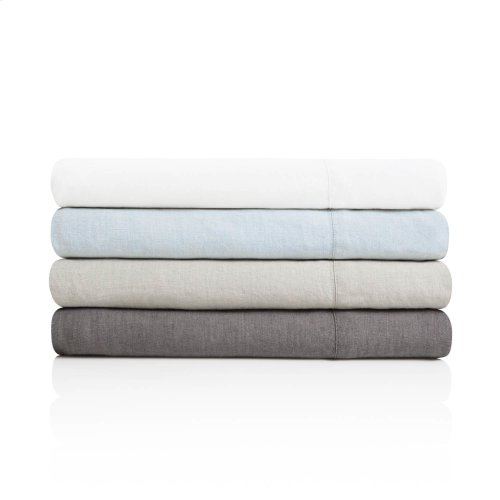 French Linen Split King Charcoal