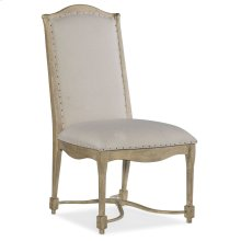 Dining Room Ciao Bella Upholstered Back Side Chair- Natural