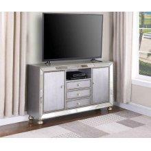 """Contemporary Metallic Platinum 60"""" TV Console"""