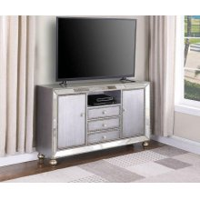 "Contemporary Metallic Platinum 60"" TV Console"