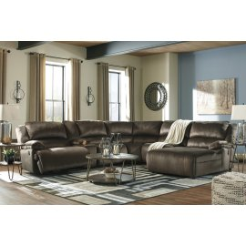 Clonmel - Chocolate 6 Piece Sectional