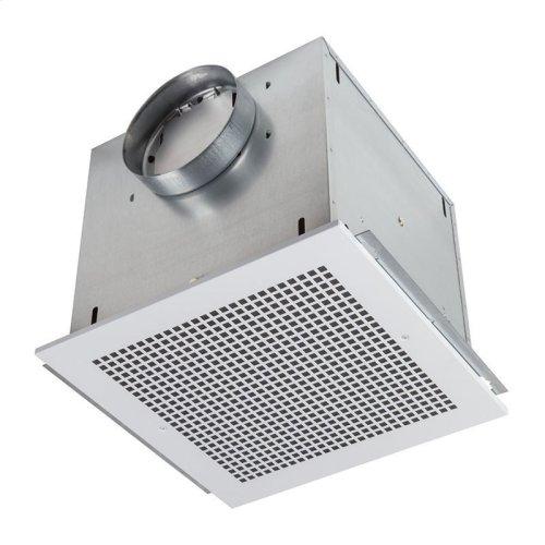"Ventilator; 277 CFM Horizontal, 3.6 Sones; 277 CFM Vertical, 3.7 Sones. Metal grille and blower wheel. 8"" rd. duct connector. Suitable for kitchen installation. 120V"