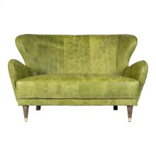 Keaton Leather Loveseat Emerald