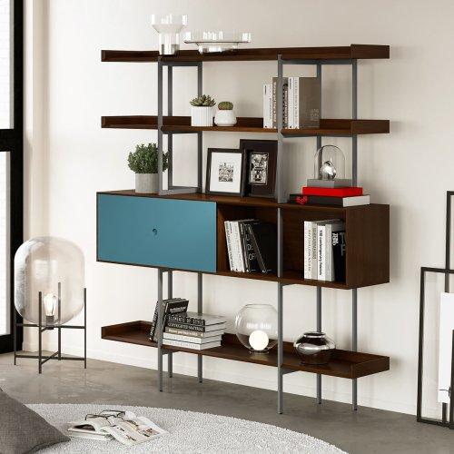 5201 Shelf in Toasted Walnut Fog Grey