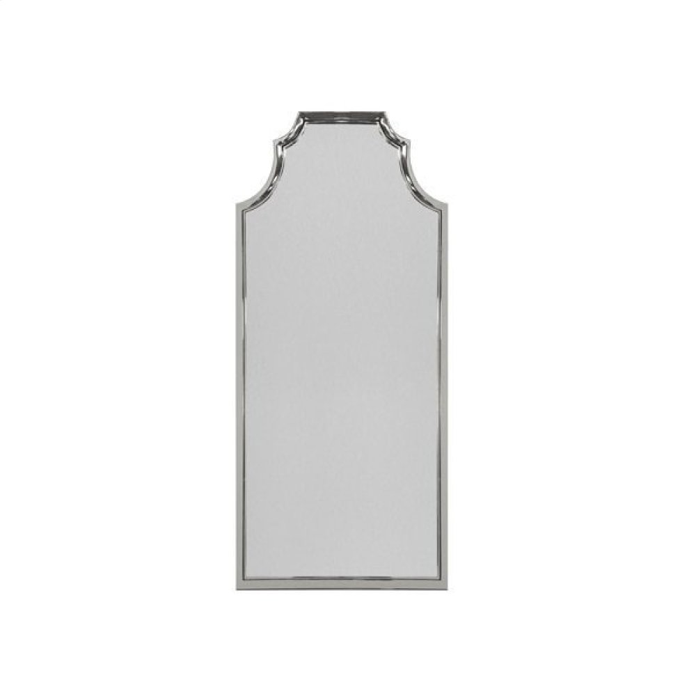 Pagoda Style Floor Mirror With Nickel Frame