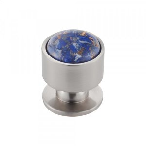 Firesky Mohave Lapis Knob 1 1/8 Inch Brushed Satin Nickel Product Image