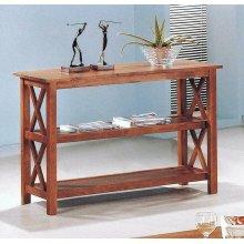 Casual Medium Brown Sofa Table