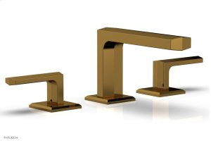 DIAMA Widespread Faucet - Lever Handles Low Spout 184-04 - French Brass Product Image