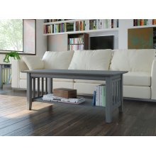 Mission Coffee Table Atlantic Grey