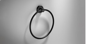 """White Towel Ring (8"""") Product Image"""