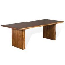 Carey Live Edge Table w/ Wood Base