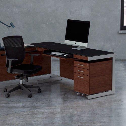 Low Mobile File Pedestal 6007 2 in Espresso