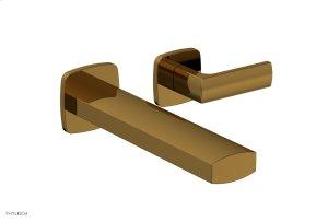 RADI Single Handle Wall Lavatory Set - Lever Handles 181-16 - French Brass Product Image