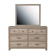 Kids Framed Dresser Mirror in River Birch Brown