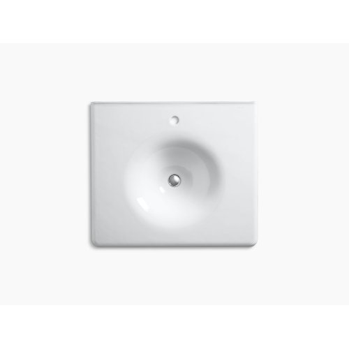 "Almond 25"" Vanity-top Bathroom Sink With Single Faucet Hole"