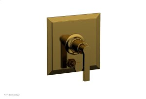 HEX MODERN Pressure Balance Shower Plate with Diverter and Handle Trim Set 4-102 - French Brass Product Image