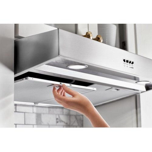 "34"" Range Hood with Dishwasher-Safe Full-Width Grease Filters"