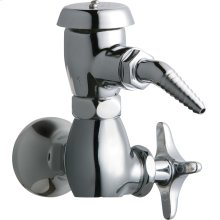 Wall-mounted single-hole, single-supply laboratory faucet