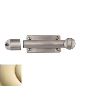 Lifetime Polished Brass Heavy Duty Dutch Door Bolt Product Image