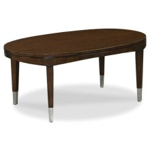 Crescent Oval Cocktail Table