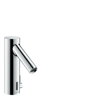 Chrome Electronic basin mixer with temperature control battery-operated Product Image
