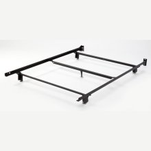 Inst-A-Matic Hospitality H753LGC4 Low Profile Bed Frame with Fixed Headboard Brackets and (5) 2-Piece Glide Legs, Full XL