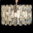 with A Dark Backing and Stunning Mosaic of Clear Crystals and Stainless Steel In Chrome, This Chandelier Is Perfect for Smaller Spaces, Intimate Settings, and as A Dazzling ACCENT. Product Image