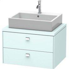 Brioso Vanity Unit For Console, Light Blue Matt Decor