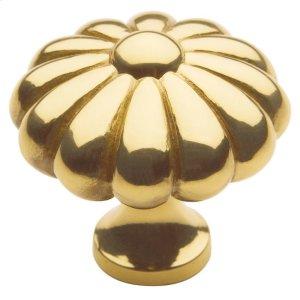 Polished Brass Melon Knob Product Image