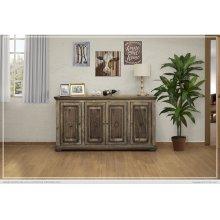 4 Wooden Doors Console