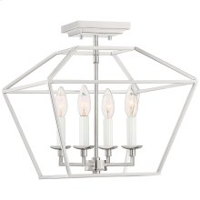 Aviary Semi-Flush Mount in Polished Nickel