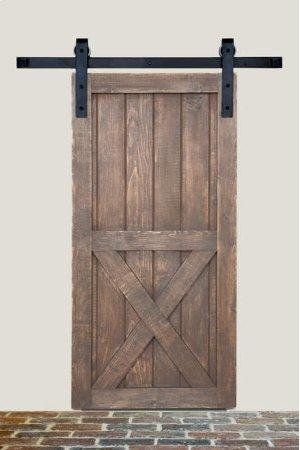 8' Barn Door Flat Track Hardware - Smooth Iron Basic Style Product Image