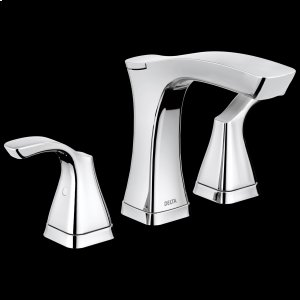 Chrome Two Handle Widespread Bathroom Faucet - Metal Pop-Up Product Image