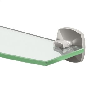 Jewel Glass Shelf in Satin Nickel Product Image