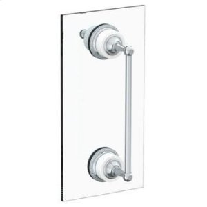 "Venetian 12"" Shower Door Pull With Knob/ Glass Mount Towel Bar With Hook Product Image"