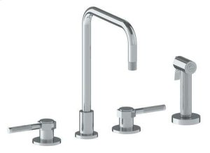 Deck Mounted 4 Hole Kitchen Set - Includes Side Spray Product Image