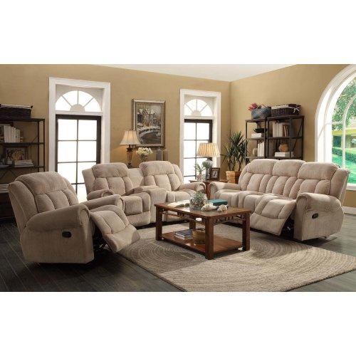 Basha Taupe Reclining Sofa