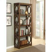 Enedina Transitional Chestnut Bookcase