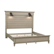 Lighted Double Sconce Queen / King Bed Side Rails