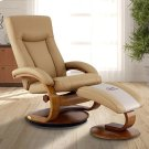 Hamar Recliner and Ottoman in Cobblestone Top Grain Leather Product Image