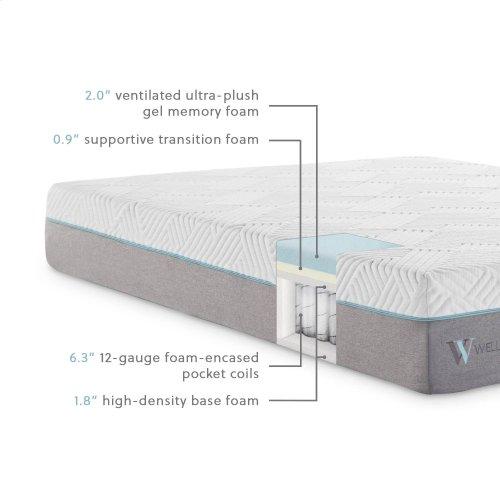 Wellsville 11 Inch Gel Memory Foam Hybrid Mattress Cal King