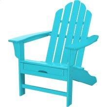 All-Weather Contoured Adirondack Chair with Hideaway Ottoman- Aruba