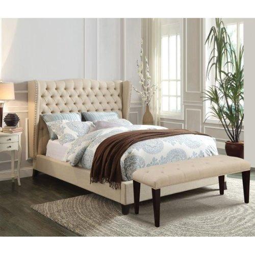 FAYE Q LINEN BED @N