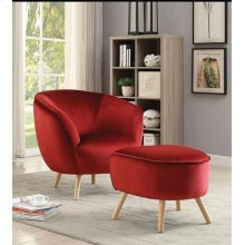 RED OTTOMAN