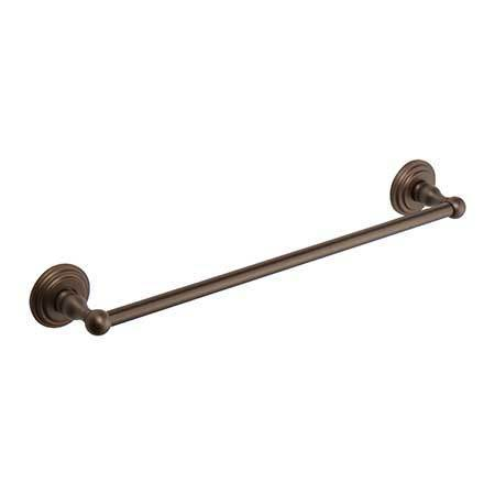 "Oil Rubbed Bronze - Hand Relieved 12"" Towel Bar"