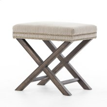 Heathered Twill Stone Cover Elyse Ottoman