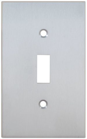 Single Modern Switchplate in (US26D Satin Chrome Plated) Product Image