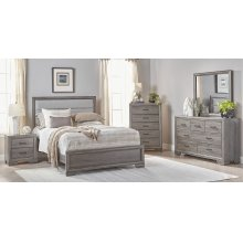 6412 Barnwood Loft Queen GROUP; QB, Dresser, Mirror, Chest