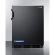 ADA Compliant All-refrigerator for Freestanding General Purpose Use, With Flat Door Liner, Auto Defrost Operation and Black Exterior