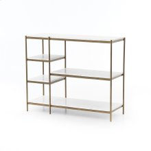 Antique Brass Finish Lily Console Table